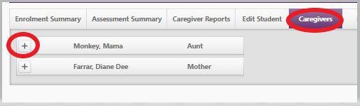 caregiver tab