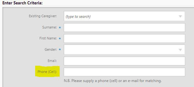 Cell Phone enrolment
