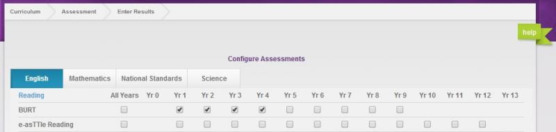 We wanted to show you assessment configuration display