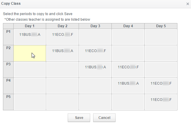 we wanted to show you the auto timetabling Copy option in Modify Timetable