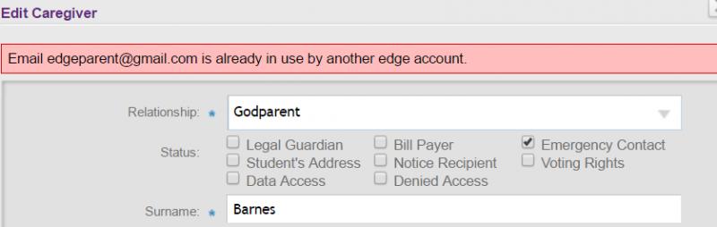 duplicate email error