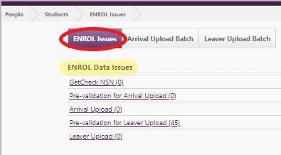 Enrol Data Issues