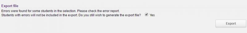 Generate Export file