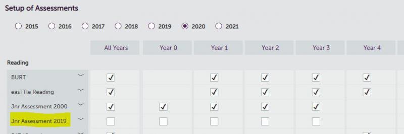 Setup Junior Assessment 2019