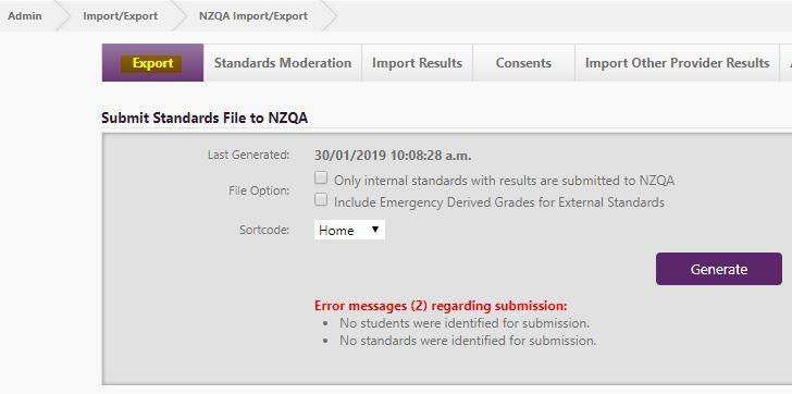 NZQA Export