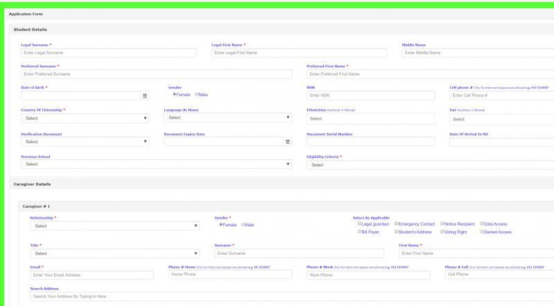 Online Enrolment Form