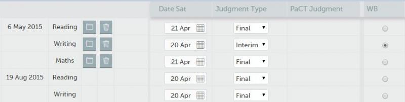 We wanted to show you the interim OTJ results judgment dropdown in Achievement data entry