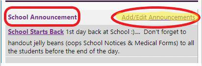 School Announcement