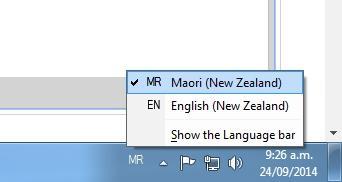 We wanted to show you Maori keyboard configuration Windows 7