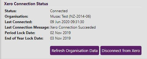 Xero Connection Status