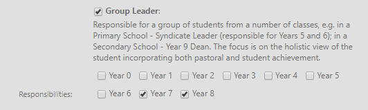 Year Group Leader